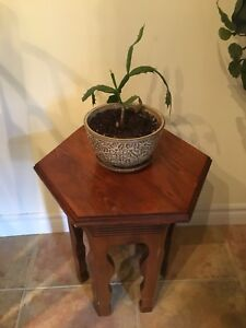 Beautiful small hardwood  antique stand/ side table.