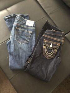 Authentic woman's true religion jeans