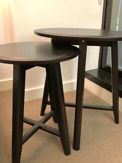 Black Nesting Side Tables