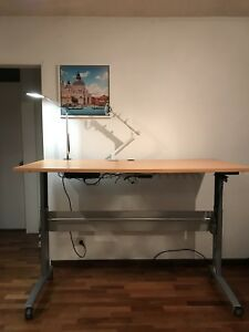 Electric standing desk.