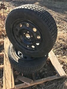 235/55/17 Firestone Firehawk PVS  Tires on Crown Vic Rims
