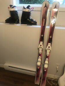 Women's Ski Boots and Skis