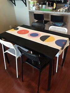 IKEA TÄRENDÖ / ADDE Table and 4 chairs, ALMOST NEW