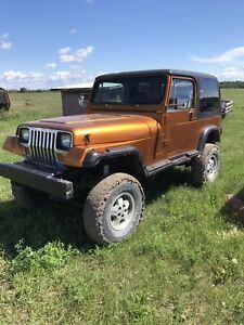 1987 Jeep YJ V8 trade for half ton pickup