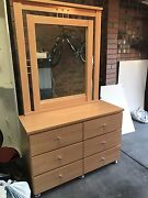 Bedroom Suite Set - Mirrored Dressing Table & Queen Bedhead Doncaster Manningham Area Preview