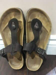 Betula licensed by Birkenstock leather sandals brown size 7