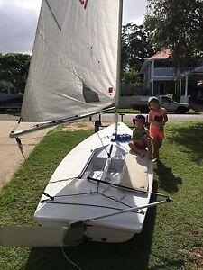 Laser sailing dinghy Chermside Brisbane North East Preview