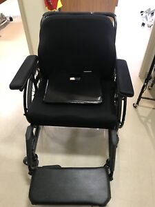 Larger wheelchair with roho cushion