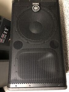 Highly rated Yamaha DSR-112 powered Speakers - never used
