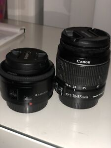 Lens 18-55 canon / Yongnuo 50m prime