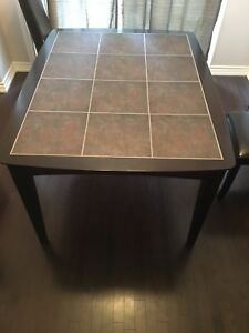 Ceramic dining table and chair set