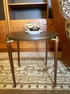Mid Century Small Round Side/Coffee Table