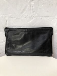 """M0851 vintage leather flat pouch """"Rugby North America"""""""