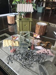 Lanard Army Outpost  & landscape fences  works with GI Joes