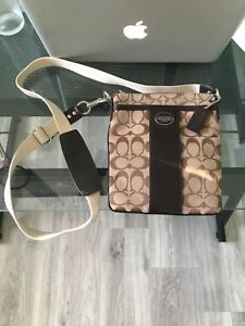 Coach signature crossbody