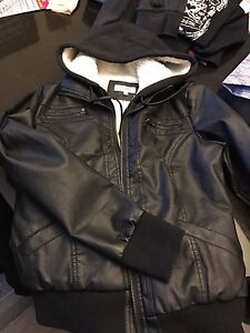 """LEATHER"" LINED CHARLOTTE RUSSE JACKET"