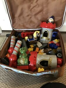 Tow mater suitcase and large LEGO castle blocks