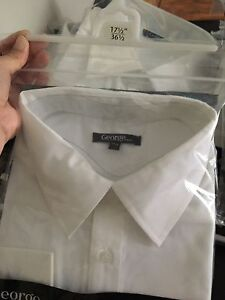 Men's white long sleeve shirts