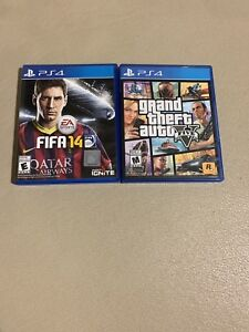 Ps4 games $25 for both gta 5 and fifa 14 good condition cheap