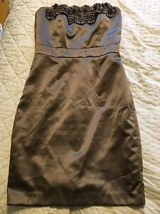Taupe Dessy Collection Dress