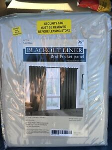 "96"" Black Out Curtain Panel x2"