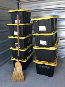 Storage or Moving Bins Various Sized Boxes Totes