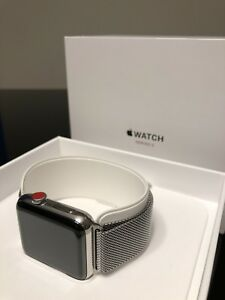 *Top model* Apple Watch Series 3 Stainless Steel (large size)