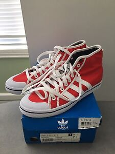 Adidas (ladies size 8) 'Honey Stripes' shoe in Red Victoria Park Victoria Park Area Preview