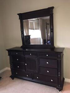 Solid Teak - Chocolate - Dresser with Mirror