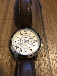 Fossil - Grant Chronograph Brown Leather Watch