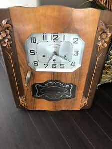 Antique hanging grandfather clock