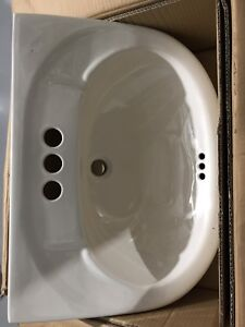 Brand new pedestal sink and stand