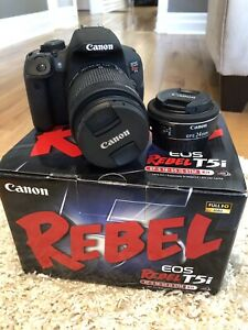 Cannon Rebel t5i with extra lens