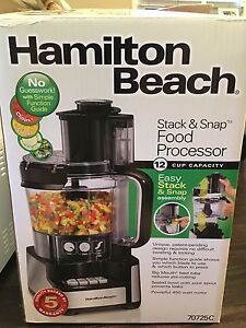Hamilton Beach Stack & Snap Food Processor 12 cup
