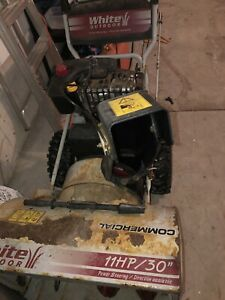 "Snowblower!  White Outdoor. 11 HP 30"" Power Steering"
