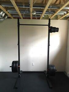 Cage à Squat pour home/ garage gym + Rig