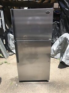 Stainless steel Whirlpool 18 cubic ft refrigerator