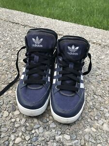 Adidas canvas high top shoes - navy 5.5Y