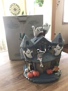 Partylite Halloween Haunted Tealight House  - retired P7311
