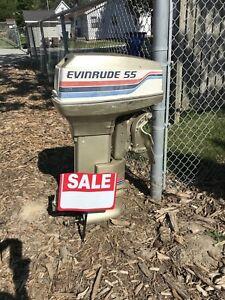 55 HP  Evinrude