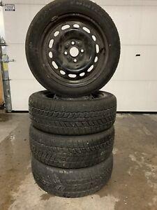185/55R15 winter tires & steel rims