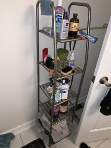 Bathroom shelf storage