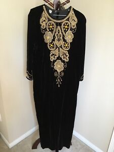 Embroidered Middle Eastern dress