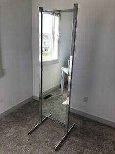 Two-Sided Commercial Grade Free-Standing Mirror