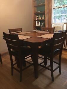 Bar Height Dining Room Table And 6 Chairs Orillia