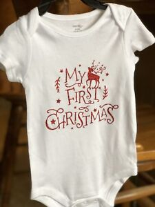 First Christmas Baby onesies