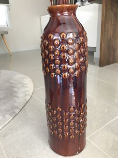 Ornate decorative ceramic vase large