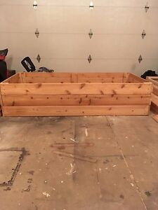 Cedar raised garden boxes