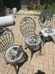 3 Cast Chairs