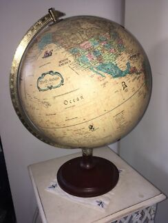 World globe with light up feature